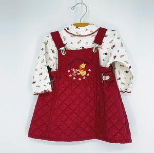 VINTAGE | DISNEY | POOH | quilted dress